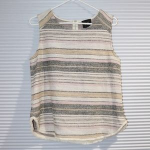 Anthropologie W5 textured frayed striped tank top